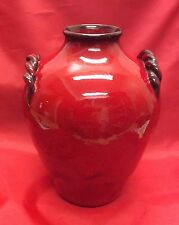 Waymon Cole, N. C. Art Pottery, Ox Blood, Rolled Applied Handle Early Vase