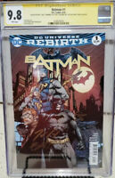DC Comics Batman #1 9.8 CGC Signed By King Finch Banning Rebirth 2016 Gotham