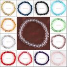 Classic Glass Quartz Crystal Rondelle Faceted Beads Stretch Bracelets Jewelry