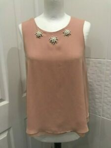 George Peach Blouse with beaded detail - 10