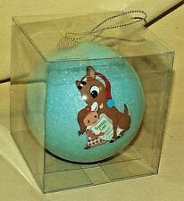 Rudolph Ornament Island Misfit Toy Large Ball Christmas New Blue Glitter Sally*
