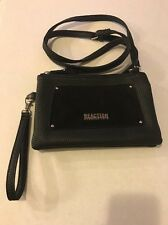 Kenneth Cole  Reaction Small Black Leather Cross Body Shoulder Bag