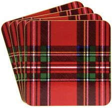 Leonardo Collection Royal Stewart Tartan Cork Backed Square Pack of 4 Coasters