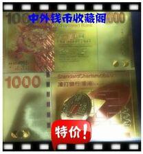 "Hong Kong $1000 Golden Foil Banknote 香港2010年""龙钞"" 渣打银行港币1000元 金箔钞"