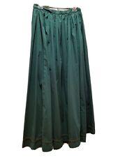 Renaissance Green Cotton Skirt with trim Larp Cosplay