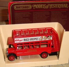MATCHBOX - MODELS OF YESTERYEAR - 1922 AEC OMNIBUS - RICE KRISPIES- Y-23 - BOXED
