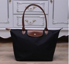 Auth New Longchamp New Le Pliage Nylon Tote Handbag Black Large
