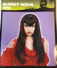 "Bloody Witch Wig Vampiress Adult Costume 16"" OSFM NIP"