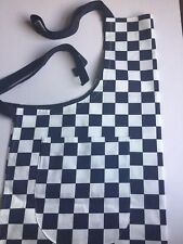 Cooks Apron With Pocket. Full Length Blue/White check Apron. BBQ Apron.