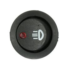 """ROCKER SWITCH """"Mini"""" RED Dot LED 3-Pin (Illum) 12V20A OFF/ON with """"Lights"""" Icon"""