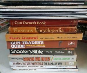 Hunting & Gun Book Lot Shooters Bible Gun Owners Gun Magazine Lot