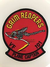 U.S. Navy Aviation VF-101 'Grim Reapers' Plane Captain cloth embroidered patch
