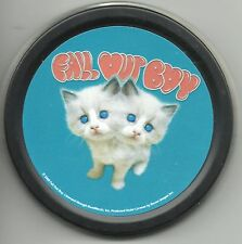 FALL OUT BOY 2 headed kitten 2006 circular STASH TIN usa IMPORT - no longer made