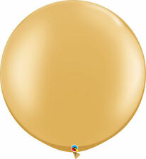 "3' HUGE 36"" Metallic Gold Qualatex Latex Balloon Party Decoration Birthday Baby"