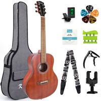 Kmise 38 Inch Acoustic Guitar with Bag Strap Capo Strings Picks Hanger Tuner