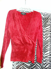 """COLLEEN LOPEZ """"My Favorite Things"""" Beautiful Red w/ Sparkle Sweater  Size 1X"""