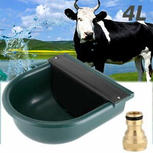 Automatic 4L Water Feeder/Drinker Horse Cow Dog Drink Sheep Goat Auto Bowl UK