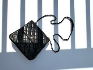 Rare Authentic Vintage 1997 Chanel Quilted Classic Flap Shoulder Crossbody Bag