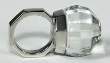 $650 BACCARAT FACETTES 55 size 7 STERLING RING GLOBE crystal JEWELRY MIB