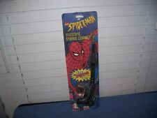 "Vintage Spiderman Telescopic Spinning Fishing Pole 25"" w/ Spin Cast Reel Zebco"