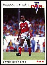 David Rocastle Arsenal #11 Panini Football 1992 Card (C358)