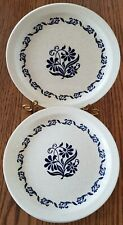 Roycroft Stoneware China 3 dinner, 4 salad plates blue flowers ONLY ONE ON EBAY!