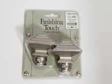 """Finishing Touch Forey Finials Pewter Fits 5/8"""" 4/8"""" Rod System 0625 Square"""