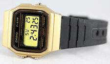 Casio F91WM-9A Classic Black Gold Sports Watch Retro Style F-91 New