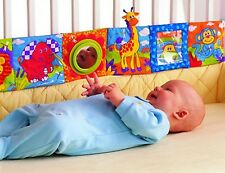 Infant Baby Cloth Book Bumper Toys Crib Bed Educational Colorful Picture Bedding