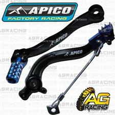 Apico Black Blue Rear Brake & Gear Pedal Lever For KTM EXC 250 2017 17 Enduro