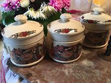 Série de 3 pots à foies gras SARREGUEMINES OBERNAI SIGNE