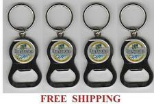 HOEGAARDEN BELGIAN WHITE ALE 4 KEY RING BEER BOTTLE WRENCH METAL OPENER NEW
