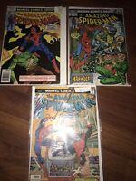 Amazing Spider-Man Key Lot 124 1st Man-Wolf 162 1st Jigsaw 176 1st Goblin III