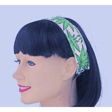 Weed Leaf Pot Print 420 Hairband Cannabis Hair Accessory CLOSEOUT