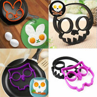 Egg Fried Mould Breakfast Silicone Skull Owl Shaper Ring Kitchen Cooking Tools