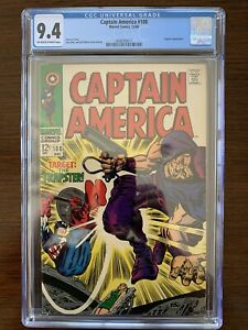 Captain America #108 CGC 9.4 (Marvel 1968) Trapster appearance.  Key!