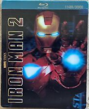IRON MAN 2 Blu-Ray 3-Disc Combo Pack Limited Edition Steel Box W/3D Cover Marvel