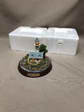 "Thomas Kinkade ""A Light in the Storm"" Sculptured Lighthouse Lighted Statue"