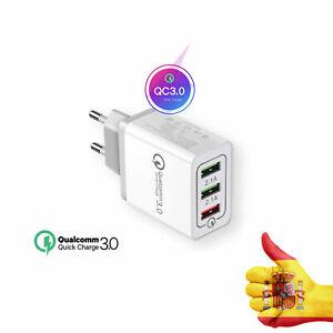 Carga rápida 3.0 USB 5V 3A Teléfono Adaptador Cargador pared Home viaje rápido