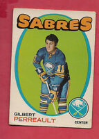 1971-72 OPC  # 60 SABRES GILBERT PERREAULT EX  CARD