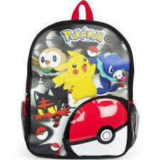 Niños 3D Lenticular Holografico Pokemon Mochila (Pikachu Litten Popplio Rowlet)