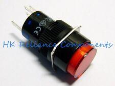 Push Button Switch LATCH ON/OFF DC24V 1A / AC220V 3A LED 12V RED VDE App