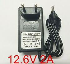 New EU 12.6V 2A 2000mA charger adapter adaptor for Lithium Ion Battery Li-ion 3S