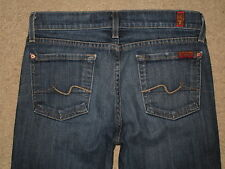 7 For All Mankind Size 25 Bootcut Low Rise Stretch Denim Dark Blue Womens Jeans