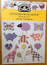 DMC Cross stitch pattern booklet Nursery Animal Patchworks