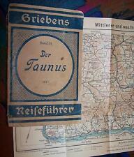 Der TAUNUS # 1921 GRIEBEN'S Reiseführer Band 171
