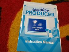 Commodore Home Video Producer User's Guide C64 Manual NICE with Release Notes