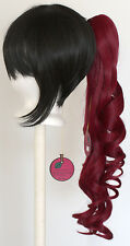 23'' Curly Pony Tail Clip Burgundy Red Cosplay Wig Clip Only NEW