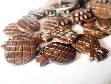 10 pcs. Coconut Shell Pineapple Beads