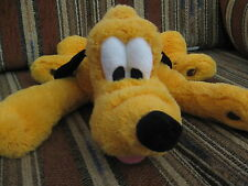 """16"""" plush Pluto the dog doll laying down, good condition"""